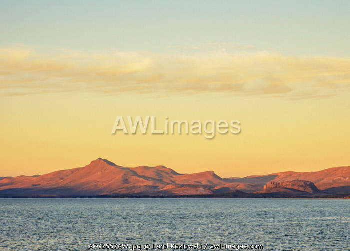 Nahuel Huapi Lake at sunset, San Carlos de Bariloche, Nahuel Huapi National Park, Rio Negro Province, Argentina