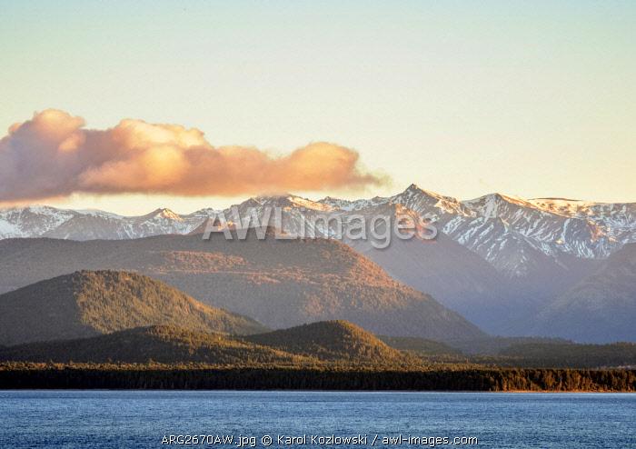 Nahuel Huapi Lake at sunrise, San Carlos de Bariloche, Nahuel Huapi National Park, Rio Negro Province, Argentina