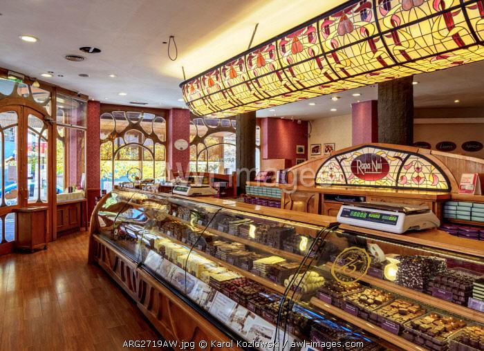 Rapa Nui Chocolate Shop, interior, San Carlos de Bariloche, Nahuel Huapi National Park, Rio Negro Province, Argentina