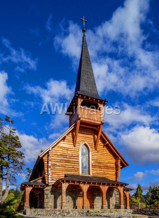 San Eduardo Church, Llao Llao, Nahuel Huapi National Park, Rio Negro Province, Argentina