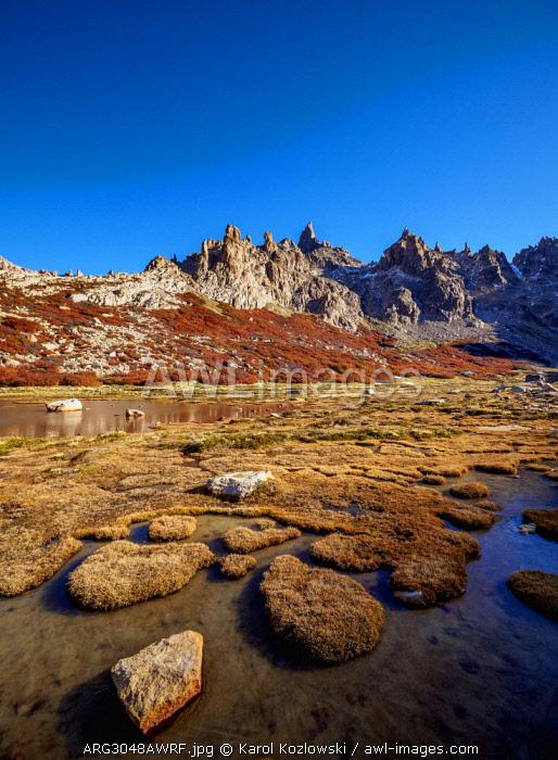 Toncek Lagoon and Cerro Catedral, Nahuel Huapi National Park, Rio Negro Province, Argentina