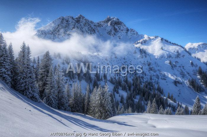 View at Litnisschrofen, Tannheim valley, Allgäu, Tyrol, Austria