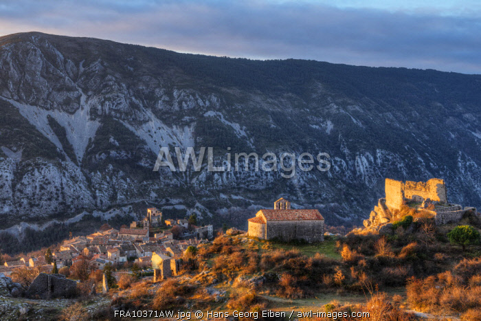 Morning view at Greolieres, Alpes-Maritimes, Provence-Alpes-Cote d'Azur, France