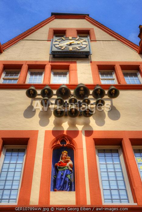 Glockenspiel at Steipe at Hauptmarkt, Trier, Rhineland-Palatinate, Germany