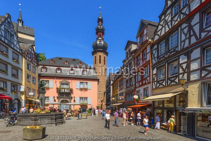 Market place, Cochem, Rhineland-Palatinate, Germany