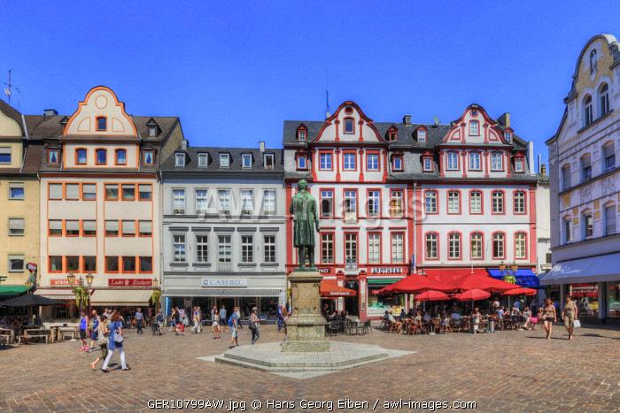 Jesuitenplatz with Johannes-Müller memorial, Koblenz, Rhineland-Palatinate, Germany