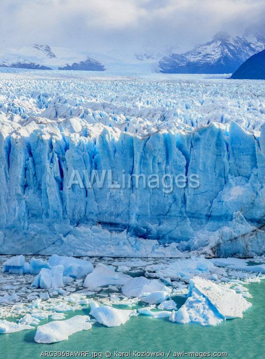 Perito Moreno Glacier, elevated view, Los Glaciares National Park, Santa Cruz Province, Patagonia, Argentina
