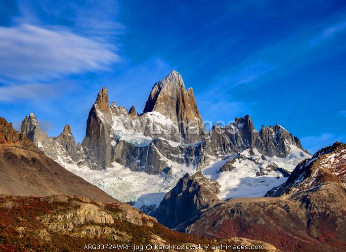 Mount Fitz Roy, Los Glaciares National Park, Santa Cruz Province, Patagonia, Argentina