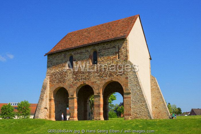Church fragment at Lorsch monastry, UNESCO World Heritage Site, Lorsch, Hessen, Germany
