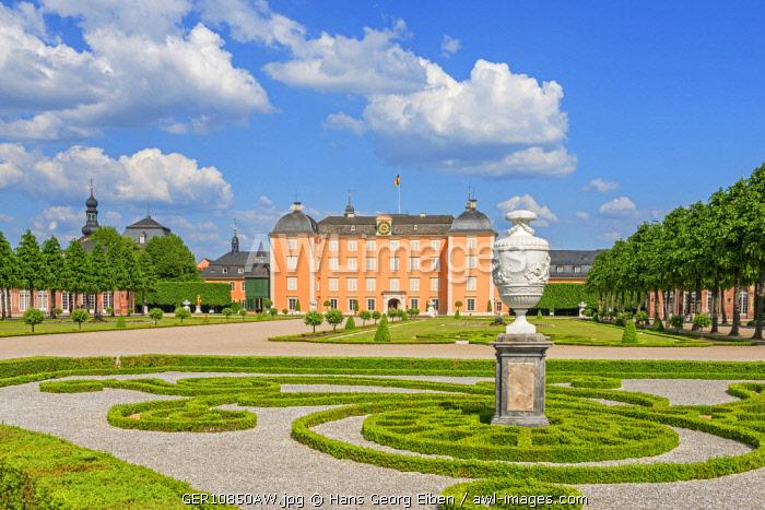 Garden with Schwetzingen castle, Schwetzingen, Baden-Württemberg, Germany