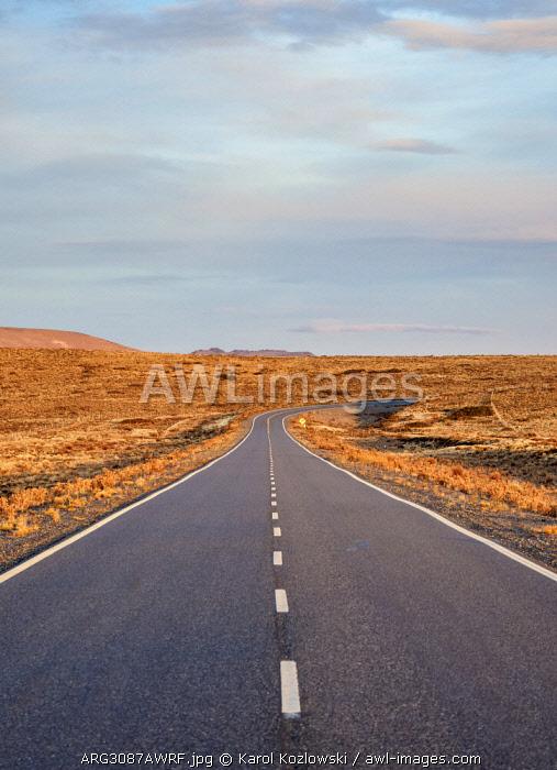 Ruta 40 near Perito Moreno Town, sunset, Santa Cruz Province, Patagonia, Argentina