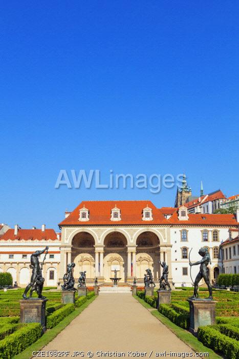 Europe, Czech Republic, Bohemia, Prague, Unesco site, Wallenstein Palace park