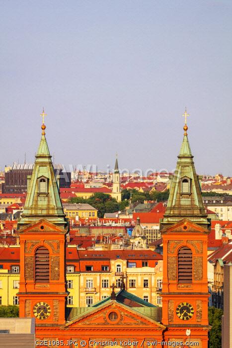 Europe, Czech Republic, Bohemia, Prague, Saint Wenceslas Catholic church