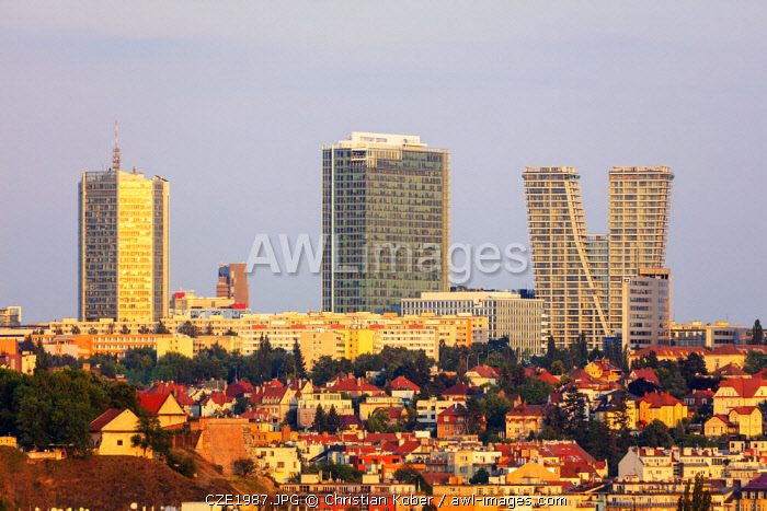 Europe, Czech Republic, Bohemia, Prague, Pankrac business district, The V Tower residence