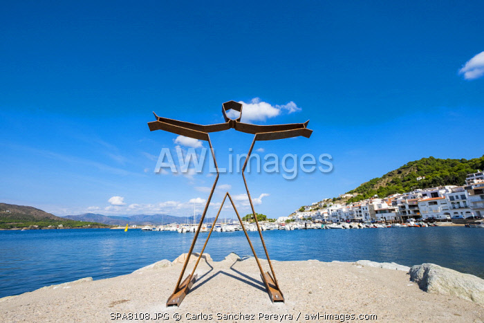 awl-images.com - Spain / View of the city of Port de la Selva, one of the most visited tourist destinations in the nature reserve of Cap de Creus north of the Costa Brava in the province of Girona in Catalonia Spain
