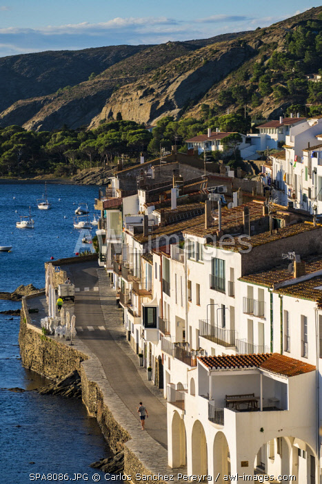 awl-images.com - Spain / The traditional white architecture of Cadaques at sunrise on the Costa Brava in the province of Girona in Catalonia Spain