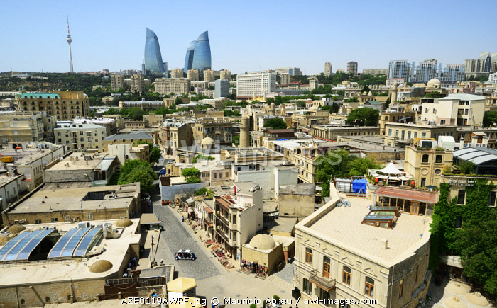 awl-images.com - Azerbaijan / The Old City or Inner City (Icarisahar), the historical core, the most ancient part of Baku, a Unesco World Heritage Site. Azerbaijan