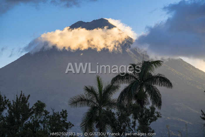 Guatemala, Sacatepequez department, Antigua Guatemala, listed as World Heritage by UNESCO, Agua volcano (alt : 3760m)