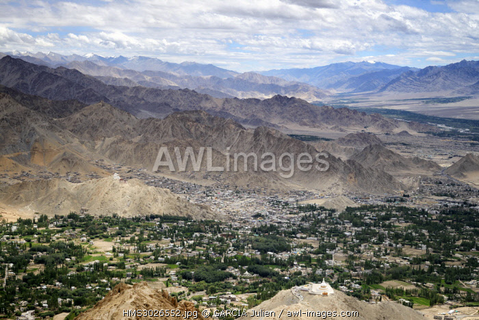 India, Jammu and Kashmir State, Himalaya, Ladakh, Indus valley, the city of Leh at an altitude of 3500 metres