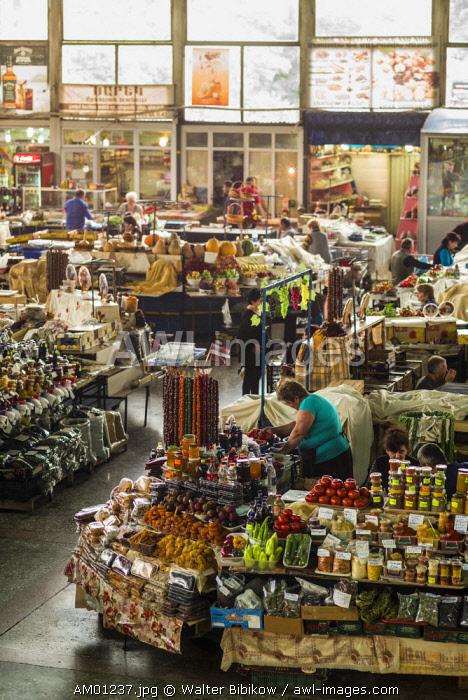 Armenia, Yerevan, G.U.M. Market, food market hall