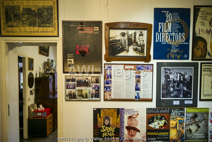 Armenia, Yerevan, Sergei Parajanov Museum, former home and museum dedicated to controversial Soviet-era filmaker, Sergei Parajanov, movie posters