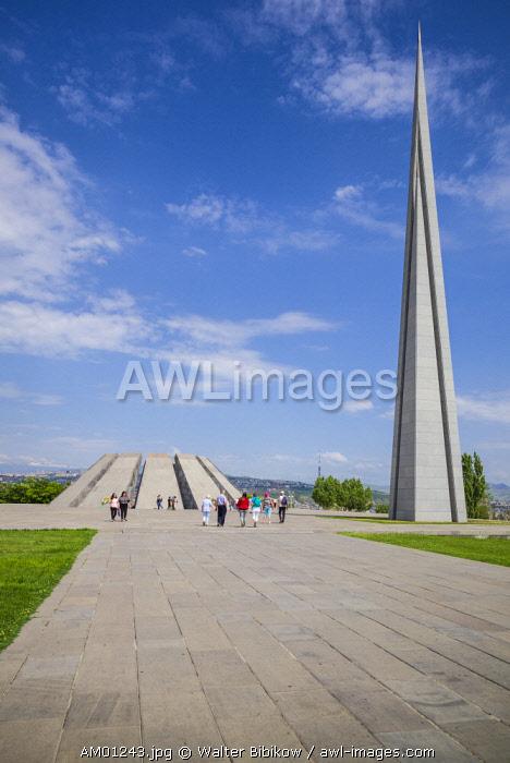Armenia, Yerevan, Armenian Genocide Memorial, monument to the massacre of Armenians of the Ottoman Empire, 1915-1922,