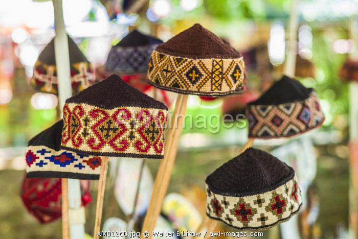 Armenia, Yerevan, Vernissage Market, hand made traditional hats