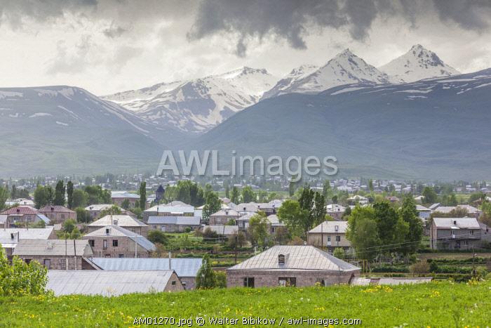 Armenia, Shenavan, village and Mt. Aragats