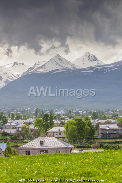 Armenia, Shenavan, village and Mt. Aragats