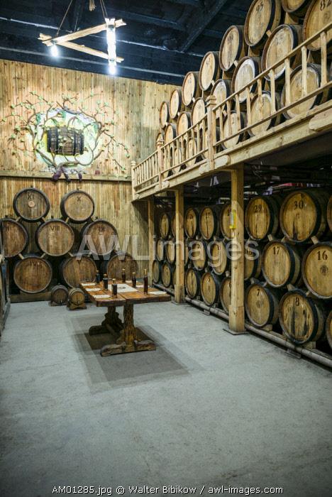 Armenia, Switzerland of Armenia area, Ijevan, Ijevan Wine Factory, wine cellar