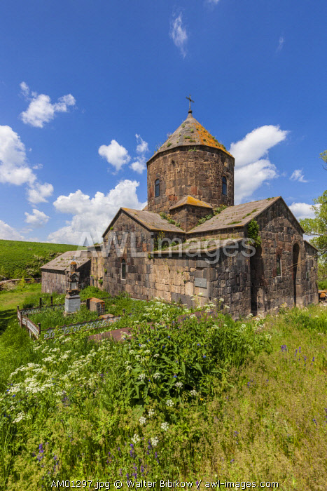 Armenia, Lake Sevan, Makenis, Makenyats Vank Church, 10th century