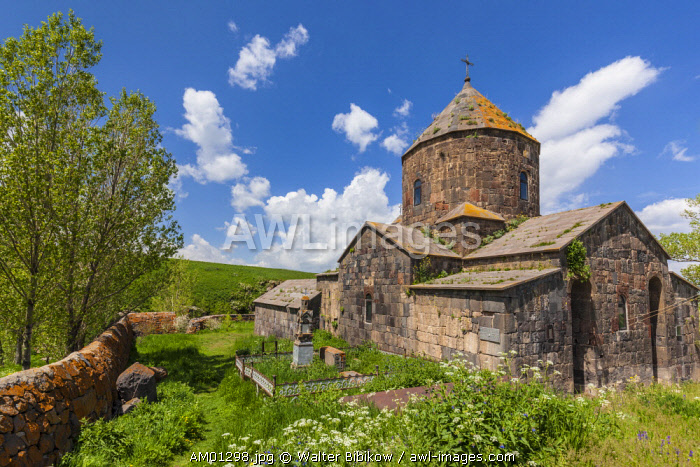 Armenia, Lake Sevan, Makenis, Makenyats Vank Church, 10th century