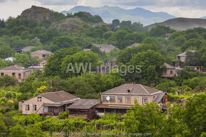 Armenia, Kechut, high angle village view