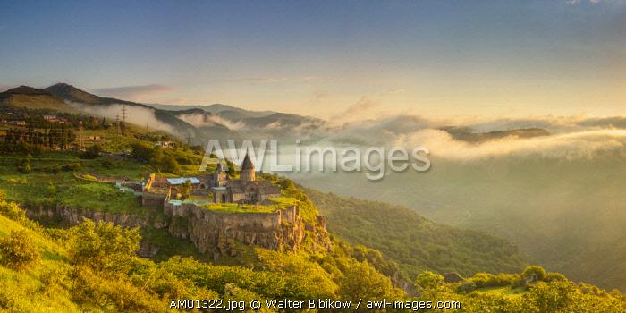 Armenia, Tatev, Tatev Monastery, 9th century,  high angle view