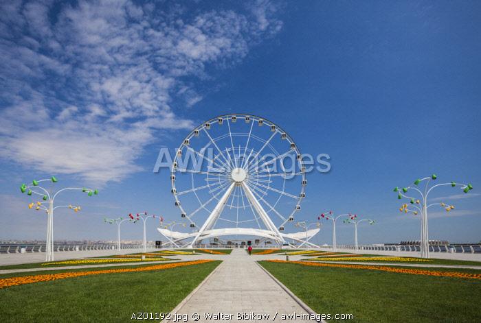 Azerbaijan, Baku, Bulvar Promenade,  Baku Eye Ferris Wheel