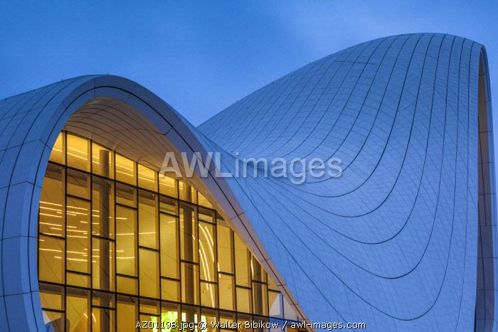 Azerbaijan, Baku, Heydar Aliyev Cultural Center, building designed by Zaha Hadid