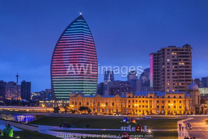 Azerbaijan, Baku, Trump Hotel and Tower