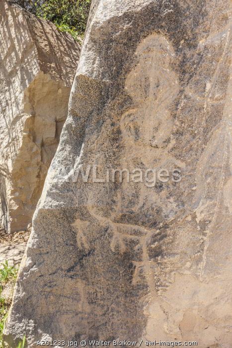 Azerbaijan, Qobustan, Qobustan Petroglyph Reserve, ancient petroglyphs