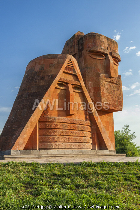 Azerbaijan, Nagorno Karabakh Republic (Armenian autonomus region), Stepanakert, Papik-Titik, We are the Mountains, monument