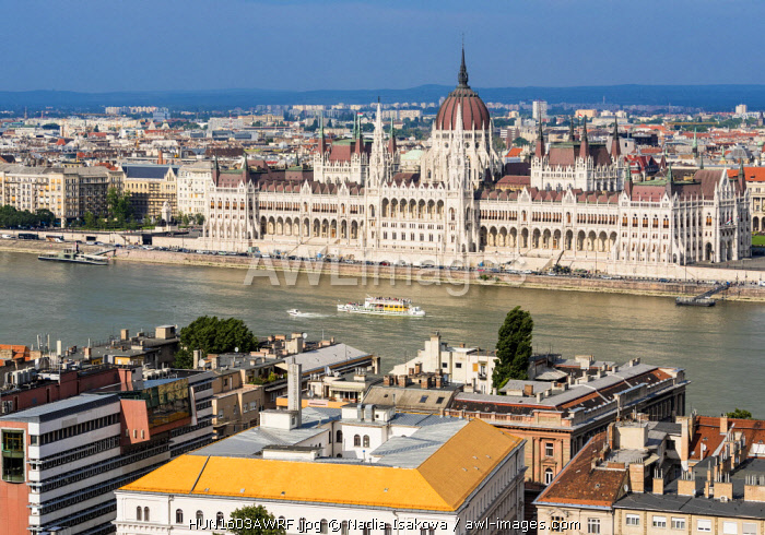 awl-images.com - Hungary / Views towards Danube and Hungarian Parliament from the Fisherman's Bastion, Budapest, Hungary