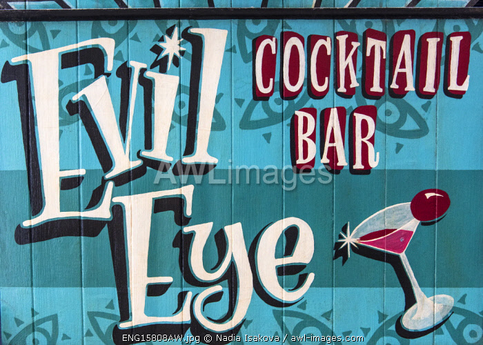 "awl-images.com - England / ""Evil Eye"" cocktail bar in York, Yorkshire, England"