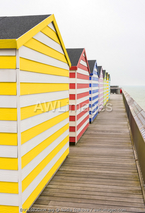awl-images.com - England / Beach huts on Hastings Pier, Sussex, England