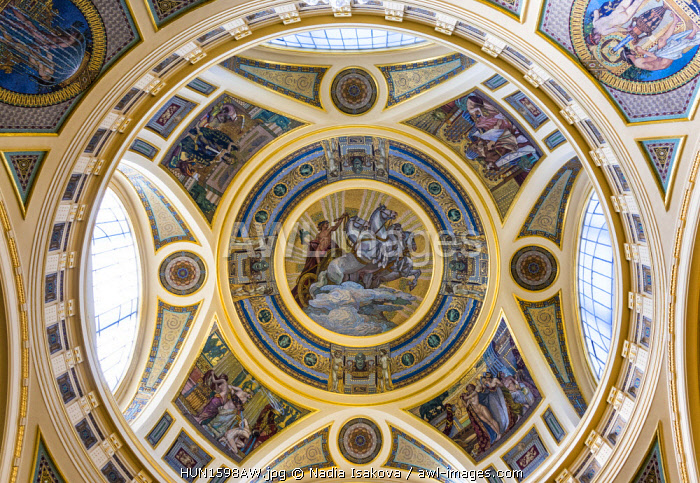 awl-images.com - Hungary / The ceiling in Szechenyi Baths, Budapest, Hungary