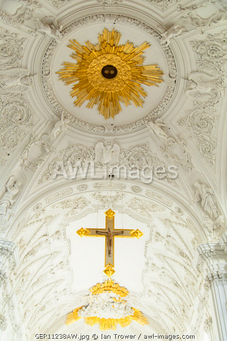 Ceiling of the Dom (Cathedral), Wurzburg, Bavaria, Germany