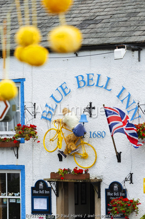 awl-images.com - England / England, Yorkshire Dales, Wharfedale, Kettlewell, Decorations for Tour de France