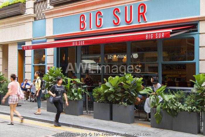 Big Sur cafe on Staunton Street, Soho, Central, Hong Kong Island, Hong Kong, China