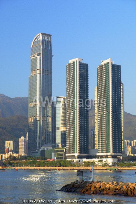 Skyline of Tsuen Wan with Nina Tower, Tsuen Wan, Hong Kong, China