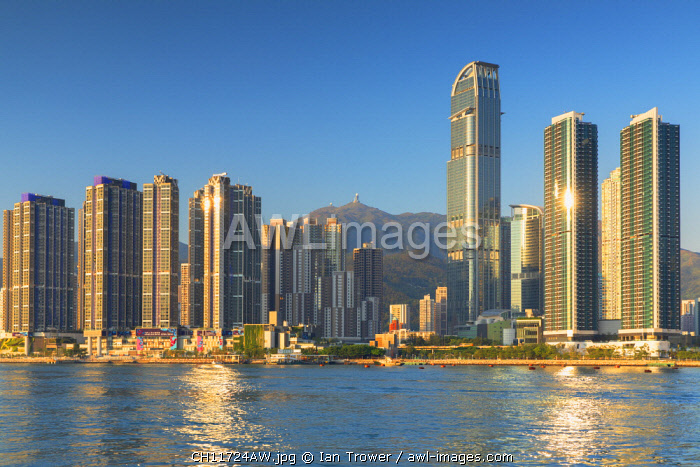 Skyline of Tsuen Wan with Nina Tower, Tsuen Wan, Hong Kong, China