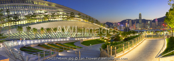 West Kowloon High Speed Rail Station and skyline, Kowloon, Hong Kong