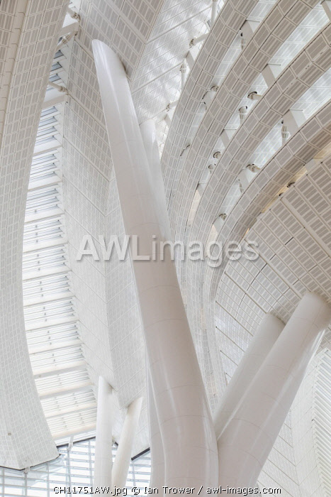 Interior of High Speed Rail Station, West Kowloon, Kowloon, Hong Kong